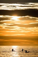 There (GavinZ) Tags: california sandiego tourmaline usa beach pacificbeach shore sunset three silhouette sky clouds sun surfers surf sports