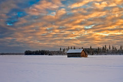 Sunset On A Very Cold Day (k009034) Tags: 500px sky landscape sunset winter cold nature travel clouds old architecture building snow fields countryside agriculture frost barn rural wooden scenery farming no people coldness weather finland tranquil scene scandinavia copy space teamcanon