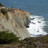 Marin County, CA, Golden Gate National Recreation Area, Point Bonita Lighthouse, Seascape (Mary Warren 10.2+ Million Views) Tags: marincountyca nature flora capebonitalighthouse landscape seascape cliff bluff pacificocean water waves rocks
