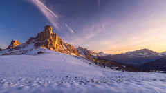 Sunrise at Passo Giau... (DaLiu_) Tags: italy landscape dolomites alps europe pass giau peak travel road nature mountains beautiful alpine outdoor mountain sunset sky passogiau giaupass snow dolomiti panorama winter high landmark clouds colorful famous scenery tourism sunrise italianalps highmountainpass cortinadampezzo destination italianalpsitaliandolomiti valgardena passodigiau snowfall tyrol morning valley stunning belluno glacier peaks bolzano southtyrol sundaylights