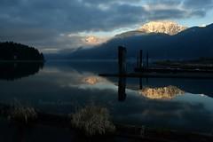 Last Light (bonniecairns1) Tags: reflection lake blue mountain scenery sceniclandscape landscapephotography nikonphotography bonniecairns nature canada britishcolumbia weather beautifulcanada beautifulbritishcolumbia wetreflections