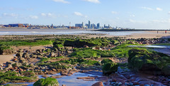 Distant skyline, but instantly recognisable (moz278) Tags: liverpool skyline rivermersey