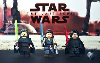 LEGO Star Wars : The Last Jedi - Rey, Kylo Ren, & Luke Skywalker