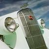Pale green Buick 8 (GmanViz) Tags: gmanviz color car automobile vehicle detail chrome 1936 buick grille headlights badge script type hood ornament film analog 120 6x6 mediumformat hasselblad 500cm zeissplanar80mmf28 fujifilm reala