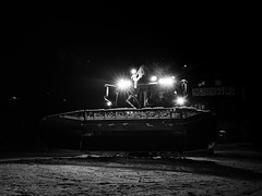 Night beast (Petr Horak) Tags: bw machine machinery x100f blackandwhite monochrome slope winter snow