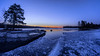 Blue morning (Kari Siren) Tags: blue morning ice lake pond isle karijarvi jaala finland