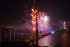 You Say It's Your Birthday (Thomas Hawk) Tags: 75thbirthdaygoldengatebridge america batteryspencer california goldengatebridge marin marinheadlands sanfrancisco usa unitedstates unitedstatesofamerica bridge fireworks millvalley us fav10 fav25