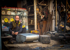 Repairing the fuel tank of a jeep .... (impressionsbyatifm) Tags: street potography streetphotography streetportraits streetlife pakistan rawalpindi people life colors nikon streetincolor