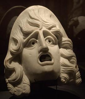 Theater mask, marble, Pompeii
