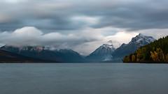 Overcast Lake McDonald ((JAndersen)) Tags: lakemcdonald glacier glaciernationalpark apgar montana usa mountains cloudy clouds longexposure nikon d810 nikkor2470mmf28ged water landscape