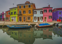 Burano,Venice (y.mihov, Big Thanks for more than a million views) Tags: burano venice venezia colours trespass travel tourist town sightseeing sigma sonyalpha reflections relax retro red blue boat water winter house holiday islands italy city green day