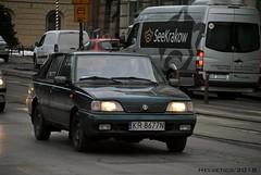 FSO Polonez - Poland, Kraków (Helvetics_VS) Tags: licenseplate poland kraków oldcars fso polonez