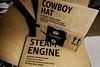 2018_02_23_curiosity _DP31093 20180223-31093-Edit (dpowersdoc) Tags: cowboyhat steamengine amazon box cowboy hat locomotive recycle toy stealocomotive conductor choochoo