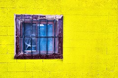 window on yellow (-liyen-) Tags: activeassignmentweekly window fan yellow decay rundown urban fujixt2 challengeyouwinner