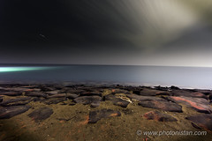Dynamic Clouds (Photonistan) Tags: beach 7dwf nightphotography sky clouds nightshots longexposure photonistan rocks sea redsea nikon d7100 deserted travel stars startrails