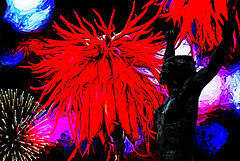 Funchal harbour (Bobinstow2010) Tags: arty colour color funchal harbour fireworks flower red statue figure black