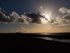 Waiting for the God (RS400) Tags: sea water beach severn sky clouds wow cool wicked travel bristol southwest olympus uk photography windmills