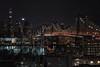 View from Queens (reinaroundtheglobe) Tags: newyork newyorkcity ny nyc queens highangleview bridge city skyline cityscape buildings water longexposure