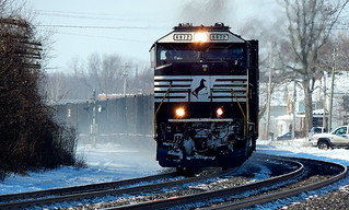 Norfolk Southern SD60E at Kendallville Indiana