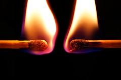 Flame x2 (JossieK) Tags: flame matches macro flames fire burning macromondays