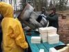 Innovative Barrel Design (lady-ursula) Tags: rocketmassheater newdesign barrel unclemud