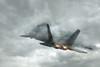 F-22 Raptor  💀  stealth. mach two. lethality.  💀 (sugarbear1956) Tags: stormcloud dramaticsky cumulonimbus thunderstorm ominous danger raptor f22 usaf photographerswharf