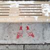 Pigeons Stencil (Fred:) Tags: pigeon stencil birds oiseaux montreal ndg notre dame de grace public bench banc snow neige oiseau bird pigeons notredamedegrâce red rouge sidewalk trottoir streetart enneigés ground city life montréal urban street art urbain square squareformat enneigé