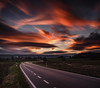 Sunset (michaelreubi) Tags: sunset sunlight road street light lastlight clouds cloud cloudporn church chapel longexposure dawn dusk motion moving lighttrail trail deutschland germany schweiz switzerland schaffhausen büsingen