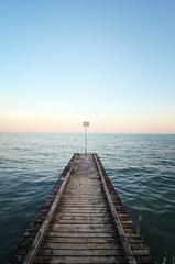 The End (Koisny) Tags: nikon d7000 tokina 1224 travel beach dusk pier italy jesolo sea