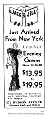 1933 jack & jill evening gown (albany group archive) Tags: albany ny history 1933 jack jill evening gown hudson avenue clothing 1930s womens old historic historical photo photograph picture vintage