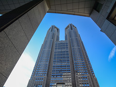 Tokyo Metropolitan Government Building (phuong.sg@gmail.com) Tags: administration architecture asia asian blue building business city concrete eastern facade glass govern government granite grey high imposing japan japanese landmark metropolitan modern new oriental power shinjuku sky skyscraper state stone structure summer tall tallest tokyo tourism tower town twin urban vertical window