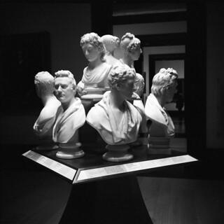 Busts in Room 20, The National Portrait Gallery