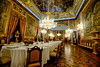 Royal Palace in Madrid, Spain (` Toshio ') Tags: toshio madrid spain spanish royalpalaceofmadrid royalpalace diningroom chandelier table chairs europe european europeanunion fujixe2 xe2 painting elegant gold