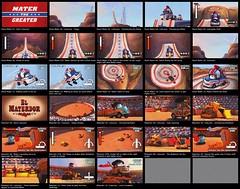 Storyboard: Cars Race-O-Rama II (hinxlinx) Tags: cars pixar storyboard vehicle mcqueen mater game raceorama mini nintendo wii gameplay