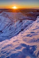 Up and down (pauldunn52) Tags: pen y fan brecon beacons cribyn sunrise sunburst snow wales