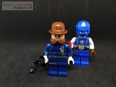 Lego Marvel Dum-Dum Dugan Minifig MOC DTB073 (downtheblocks) Tags: lego marvel dumdumdugan howlingcommandos captainamerica minifig moc superhero