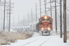 CSS 2009 @ Miller, IN (Michael Polk) Tags: chicago south shore bend railroad emd gp382 freight train gary miller indiana snow snowmaggedon 2018