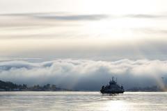 Inre Oslofjord (Lotta Hobbyfotograf :D) Tags: nikon d5300 oslo oslofjorden sol moln magi
