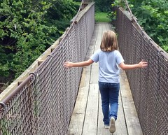 Gorge Swinging Bridge over the Whitewater River, Richmond, IN (Visit Richmond Indiana) Tags: swingingbridge river richmond indiana outdoor recreation hiking visitrichmondorg
