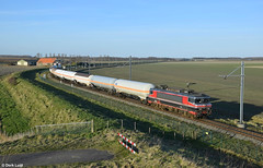 Captrain/Railogix 1619, Leeuwedorp, 13-2-2018 by Derquinho - Empty gas train 51056 Lutterade DSM - Vlissingen Sloe