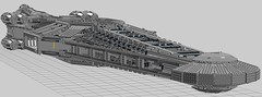 Disruptor XL Skeleton WIP (EliteGuard01) Tags: lego ldd legodigitaldesigner disruptorclasscarrier shiptember moc wip skeleton frame superstrcuture triangles ship spaceship rha concept structure