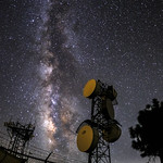 Milky Way and Antennas Atop Mount Laguna thumbnail