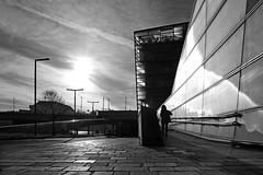 Ars Electronica Center (Erich Hochstöger) Tags: bw monochrome street arselectronica museum linz austria