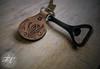 Handmade Carved Leather Keyring (Dab-nabbit) Tags: craft leather tooled leatherman handmade etsy gerber