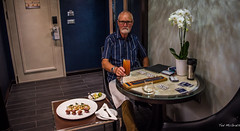2017 - Regent Explorer - Happy Hour (Ted's photos - For Me & You) Tags: 2017 cropped grenada nikon nikond750 nikonfx regentcruise stgeorge's tedmcgrath tedsphotos vignetting cribboard food drink glasses pose posing orchids canapes ipad beard moustache male man me