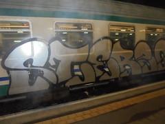 296 (en-ri) Tags: stereo mesk crew argento nero train torino graffiti writing