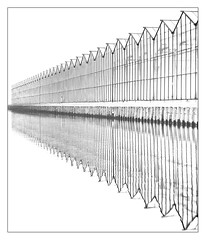 Graphic glass (leo.roos) Tags: perspective kassen hothouses greenhouses westland reflection weerspiegeling noiretblanc a7s meyertelefogar9035 1958 altix conversiontom42 darosa leoroos symmetry