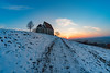 last very cold winter days? (Andreas.W.) Tags: wenzelskirche eveningsun eveninglight eveningmood sunlight sunset mühlviertel oberöstereich upperaustria winterevening winterlandscape fisheye