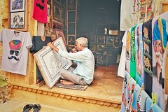 Artista at work (Siddharth Ajmera) Tags: instagram india indian artist incredible rajasthan tourism travel traveller traveler tour tourist street streets art artista shop shopping travelling jaisalmer