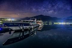 Sun moon lake~Galaxy  ~ Starry Sky~日月潭  朝霧碼頭 銀河 (Estrella Chuang 心星) Tags: galaxy starry sky lake estrella water 心星 日月潭 倒影 銀河 reflection